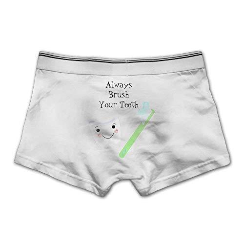 pants hats Always Brush Your Teeth Men's Comfortable Panties Underwear Briefs -