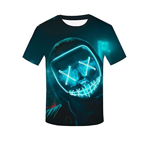 CCTXUE Camiseta T-Shirts Impresión 3D Neutro Hombres Mujeres Ventilac