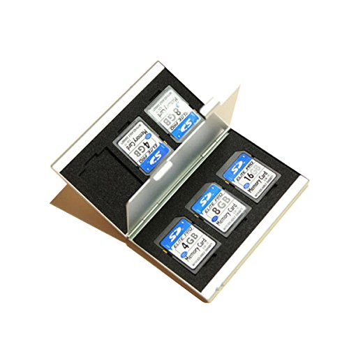 MASUNN 6 Ranuras Caja De Almacenamiento De Aluminio