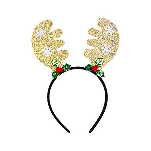 BDToy Weihnachten Stirnband Rentier-Haarreifen Kopfbedeckung Haarschmuck mit Led Licht Weihnachtsfeier Kostüm (Thailand Kostüm Frauen)
