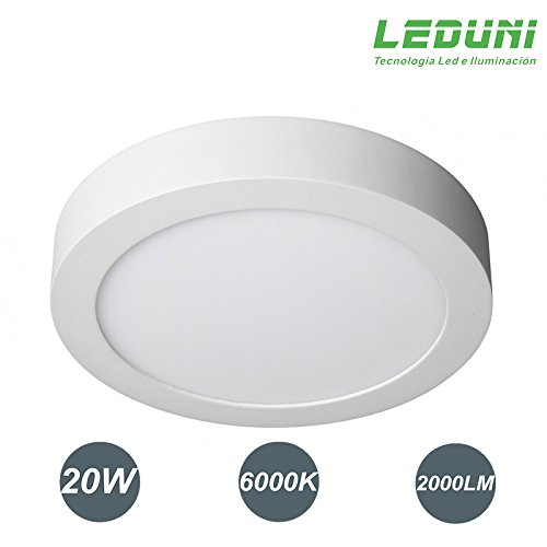 DOWNLIGHT PANEL SUPERFICIE LED CIRCULAR 20W plafon Redondo Para Techo y Pared...