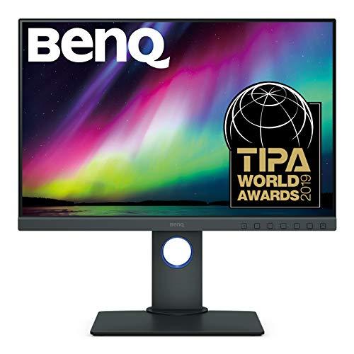 BenQ SW240 61,21 cm (24,1 Zoll) PhotoVue Monitor (LED, 1920 x 1200 Pixel, 16:10, 99% Adobe RGB, 95% DCI-P3, 14bit 3D LUT, IPS-Panel), Monitor für Fotografen, schwarz
