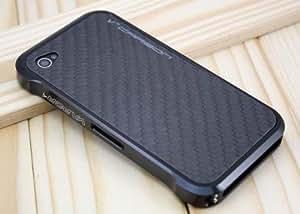 BUMPER Coque Etui pour iPhone 5 Luxe Metal Aluminium Alu VAPOR NOIR + carbone
