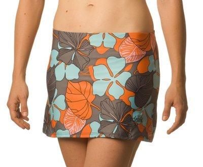 DEBLIT-Falda-PTALOS-Faldas-de-padeltenis-con-pantalon-Estampada-con-flores-de-grandes-ptalos-en-tonos-azul-claro-naranjas-y-grises-M