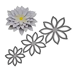 Covermason New Flower Heart Metal Cutting Dies Embossing Stencil Template For Diy Scrapbook Album Paper Card Craft Decoration (H)