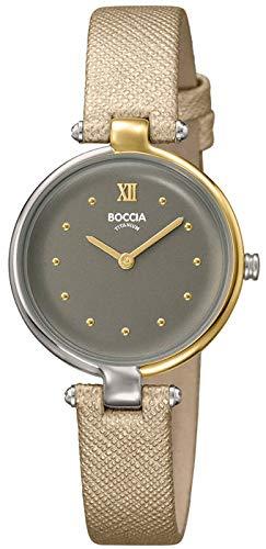 Boccia Reloj Analógico para Mujer de Cuarzo con Correa en Cuero 3278-04