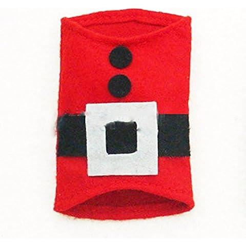 Natale decorazioni posate set, set di posate,Rosso