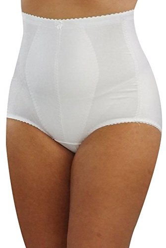 Tummy Tuck & Bum Lift Medium Control Panty Girdle 210 White MEDIUM -