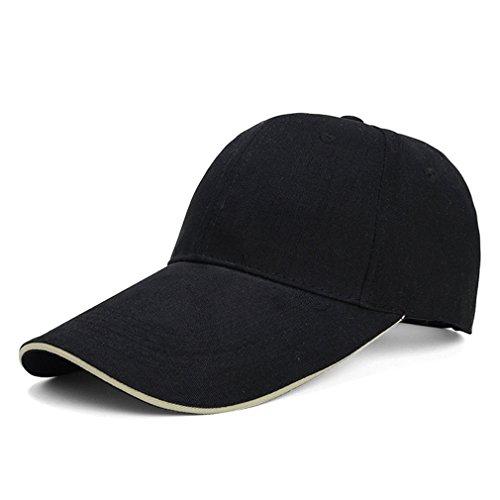 XFAY New - Casquette de Baseball casquette réglable /Couvre/Casquette /Casquette 100% coton- unisexe-noir
