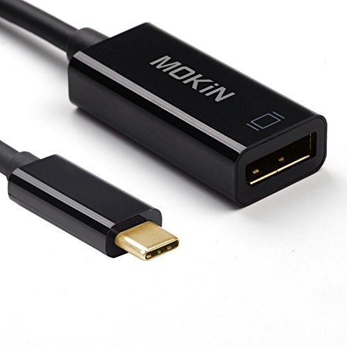 USB-C to DisplayPort Adapter Cable Male To Female for New USB C MacBook Pro, MacBook Retina, Dell XPS 13/15 And More (Supports 4K UHD @60Hz) (DP male to female)