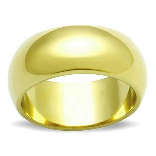 Yourjewellerybox - Anillo con detalle de anillo de matrimonio - para unisex - 18kt bañado en oro amarillo, talla 19 (18,79 mm)