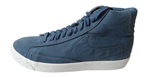 Nike Blazer Mid PRM VNTG TXT Herren Hi Top Turnschuhe 651600Sneakers Schuhe, New Slate-Summit White-mid Navy 402 - Größe: 43 EU -
