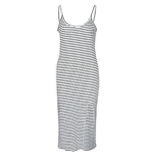 Damen Kleider Langarm Casual V-Ausschnitt Kurzarm Split Lange MaxiKleid Strandkleid - Flirt-kleid