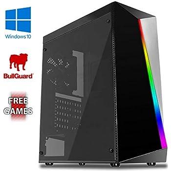 AX-1 Gaming PC Ordenador de sobremesa con 2 Juegos Gratis, Windows 10 Pro OS, WiFi (3,8GHz AMD A6 Dual-Core Procesador, Radeon R5 Gráficos Chip, 8GB ...