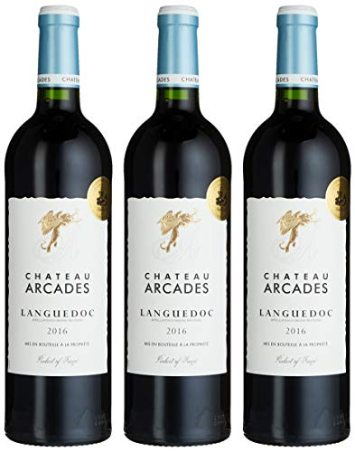 Chateau Arcades AOP Languedoc Halbtrocken (3 x 0.75 l) (Wein Languedoc)