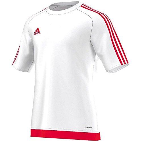 adidas Estro 15 JSY - Camiseta para hombre, color blanco / rojo,...