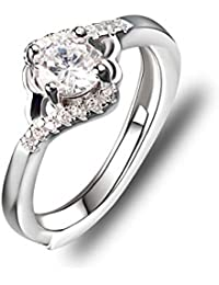 Rings Independent 5mm Platinum Plated Silver 1ct Cz Channel Wedding Engagement Band Ring Set Size9