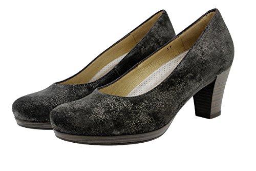 PieSanto Komfort Damenlederschuh 9301 Pump Schuhe Bequem Breit CarusoGris