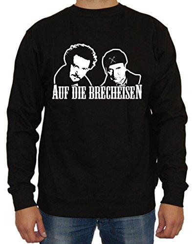 Auf die Brecheisen Sweater (Schwarz, XL) (Bang Theory Schnee)
