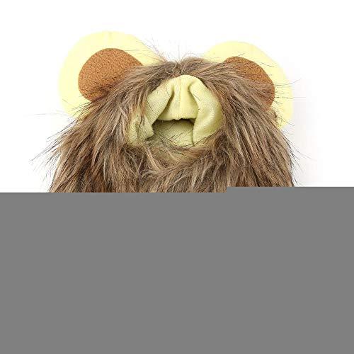 Yinhing Löwenmähne Perücke, Hut für Katzenhund Lustige süße Löwenmähne Perücke Herbst Winter Hut Mütze für Haustier GOG Katze Halloween Thema Party - Winter Themen Kostüm Party
