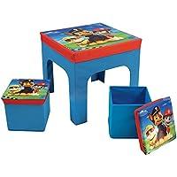 Preisvergleich für Unbekannt Fun House pat' Patrouille Tisch mit 2Barhocker Faltbare Aufbewahrungsbox für Kinder, MDF/Vlies, 52x 52x 15cm