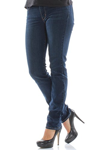 Levi's 712 Pantalones Vaqueros Delgados para Mujer en City Blues Azul Azul 58 Corto