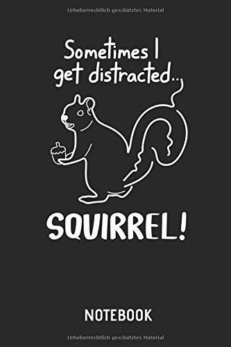 Eichhörnchen  |  Notizbuch: Liniertes Schreibheft mit Eichhörnchen Bild / Zeichnung für Frauen, Männer & Kinder. Tolle Geschenk Idee für alle Eichhörnchen Freunde.