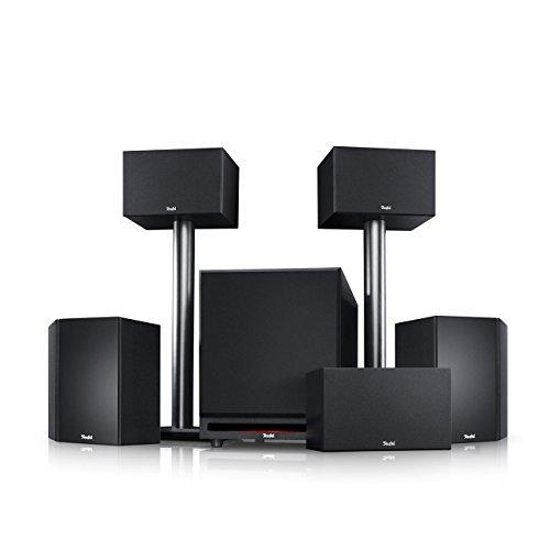"""Teufel System 6\""""5.1-Set Schwarz Heimkino Lautsprecher 5.1 Soundanlage Kino Raumklang Surround Subwoofer Movie High-End HiFi Speaker"""
