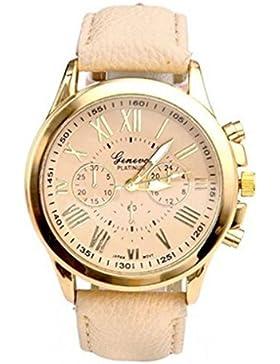 Franterd® Uhren, Unisex Damen Männer Frauen Armbanduhr elegant Uhr Zeitloses Design Classic Leather römischen...