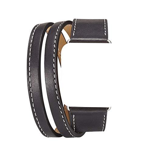LEVEL GREAT Ersatz für iWatch1 / 2/3/4 Lederband Multi Layer Solid Color-Sport-Uhr-Handgelenk-Bügel