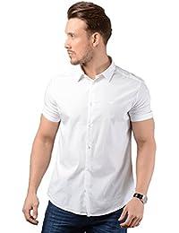 Emporio Armani Poplin-Cotton Short Sleeve Shirt White