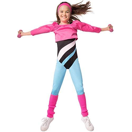 dressforfun 900568 Fitness-Sternchen, Aerobic-Outfit im Stil der 80er Jahre (128| Nr. 302732) (80er Jahre Halloween Kostüme Für Kinder)