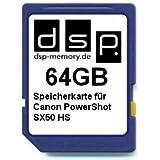 DSP Memory Z-4051557370142 64GB Speicherkarte für Canon PowerShot SX50 HS