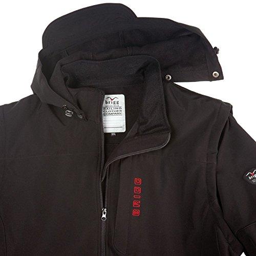 Soft Shell Jacke und Weste schwarz Brigg Übergröße Schwarz