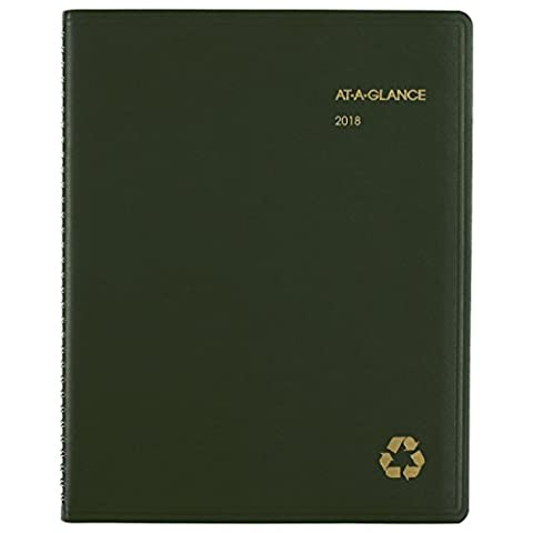 AT-A-GLANCE Weekly / Monthly Appointment Book / Planner, Recycled, January 2018 - December 2018, 8-1/4