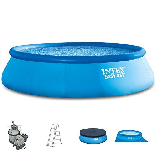 Intex 457x 107cm Easy Pool 289002Set completo incl. Filtro a sabbia, scala di sicurezza, a e UPLANE