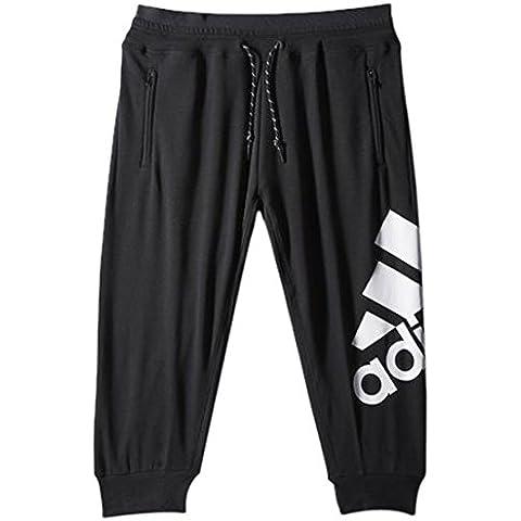 adidas ESS Logo 3/4 PT - Pantalón para mujer, color negro / blanco, talla S