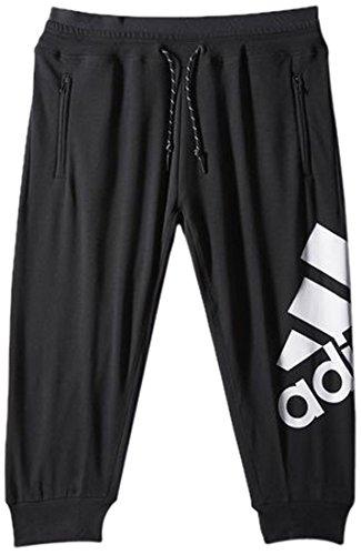 adidas Damen Sweathose Essentials 3/4, Schwarz/Weiß, M, 013951005