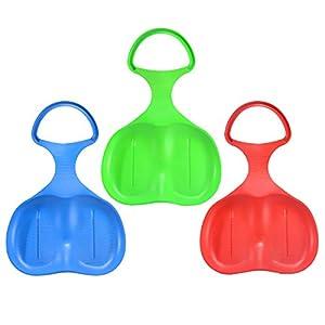 U&X schneerutscher Kinder Schneeflitzer mit Griff 3 Stück Rot Blau Grün