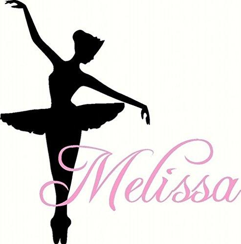Njuxcnhg Tanz Wandtattoo Personalisierte Ballerina Mit Namen Teen Mädchen Zimmer Vinyl Wandkunst wohnkultur wandaufkleberCM 115x72cm