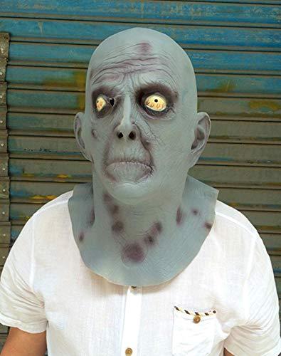Littlefairy Maske,Halloween Latexmaske Horror ohne behaarte Augen alte Mann Perücke Alien Teufel Maske