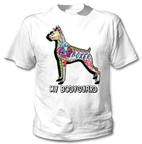 teesquare1st Men's Boxer - My Bodyguard c White T-Shirt Size Large