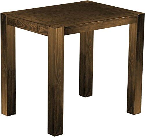Brasil Meubles Haut Table 'Rio Kanto' 120 x 90 x 109 cm, Pin Parasol Bonito Bois Massif, Teinte chêne Vieilli