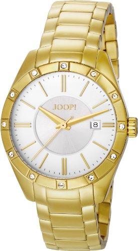 Joop Emblem - Reloj de Cuarzo para Mujer, con Correa de Acero Inoxidable, Color Dorado
