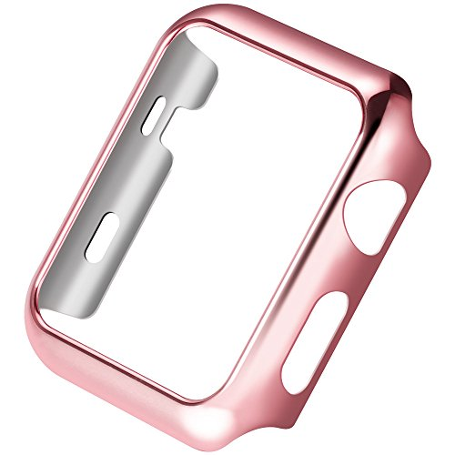 Apple Watch PC Plated Protective Cover Case HOCO Pinhen Thin Pc Plated Plating Protective Bumper Case for Apple Watch Series 2 (38MM Rose) Test