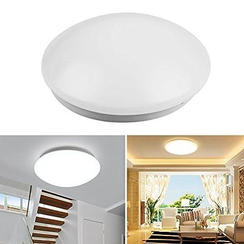 12W führte Deckenleuchte 6500K intelligente Mikrowellen-Induktions-Lampen-Befestigungs-Decke unten für Küche-Badezimmer-Esszimmer (kaltes Weiß)