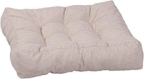 Gartenstuhl-Kissen Sitzkissen für Loungegruppen oder Sessel in ca. 42 x 42 cm in beige