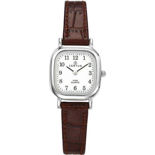 Certus  644406 - Reloj de cuarzo para mujer, con correa de cuero, color marrón