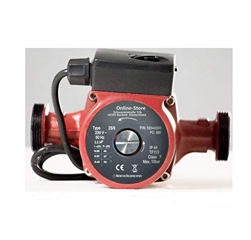 TOP QUALITY Bomba de circulación 25/6 - 180 la masa de montaje son medidas estándar y compatible con otros fabricantes para cualquier tipo de calefacción, instalaciones de unidad y circuito de agua similares solar - Tipo: RS 25/6 - 180 - Longitud: 18...