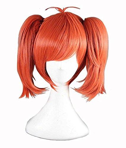 etruke Anime court orange clip sur cheveux queue de cheval femmes cosplay perruques